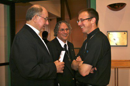 Fr. Greg Schill (right) with Br. Ray Kozuch and Br. Clay Diaz