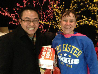 Fr. Thi Pham and SMOT parishioner Lauren Jensen