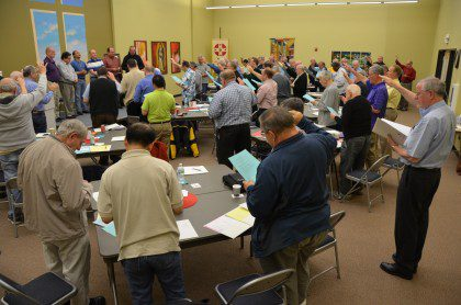 The membership blesses its new administration