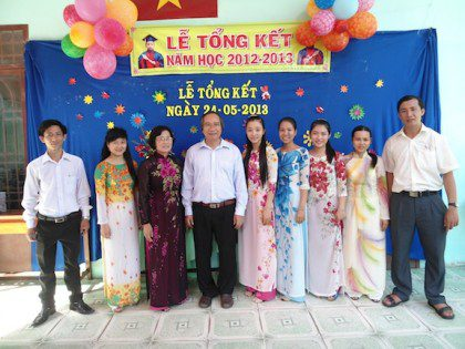 Celebrating the end of the school year at Huong Tam School in Vietnam