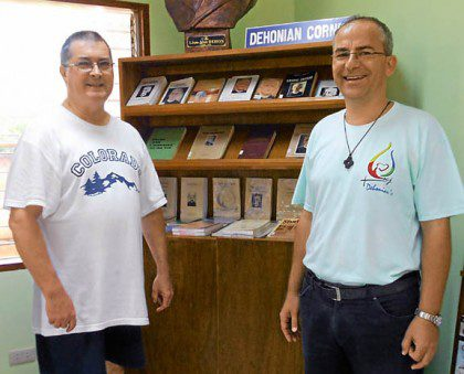 Fr. Wayne has assisted with archival and library work in several areas of the congregation. Here he is pictured (left) in the Philippines.