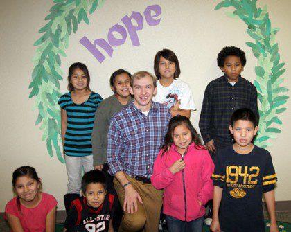 Joe Tyrell and students
