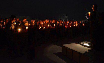 Fr. Mark Mastin leads soldiers in prayer