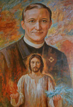 Painting of Fr. Leo John Dehon at the Generalate in Rome