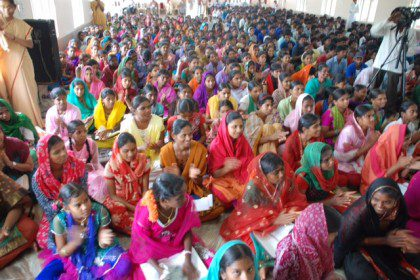 Just some of the over 700 participants at the Eluru diocesan youth gathering