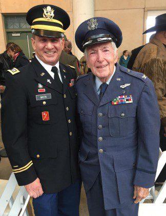 Fr. Mark (left) with a fellow veteran