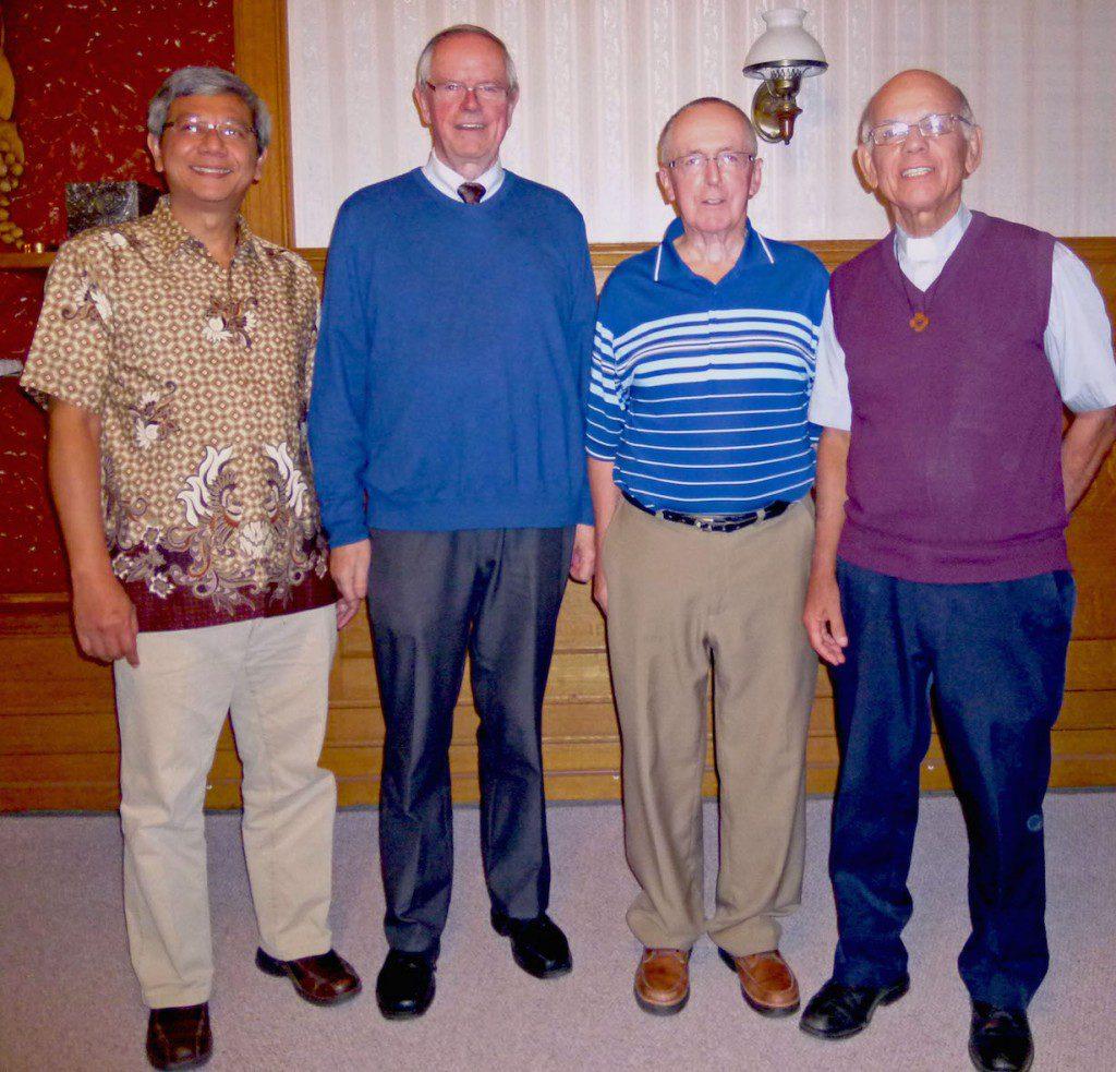 The new Canadian administration: Fr. Aegi Warsito, Fr. John van den Hengel, Fr. Paul Tennyson and Fr. Richard Woodbury.