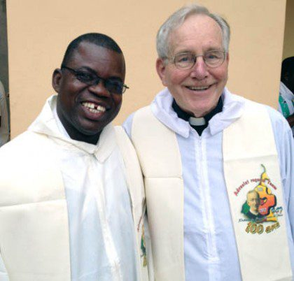 Fr. Jan (right) with Fr. Francois in Congo