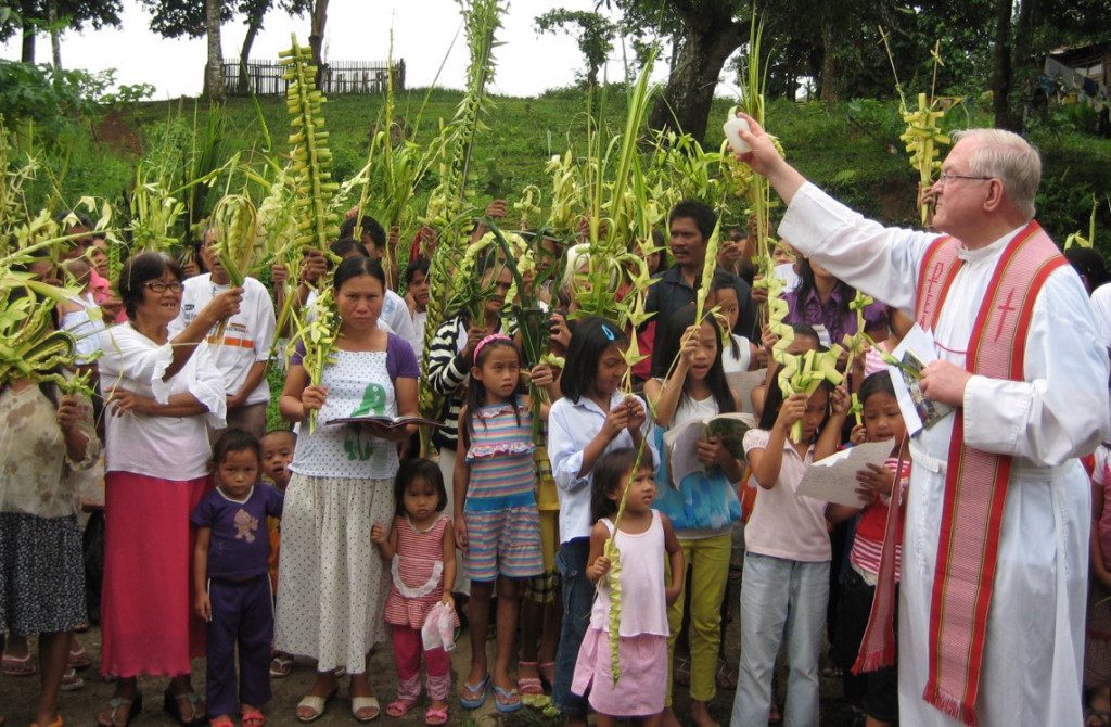 Fr. Bernie celebrating Palm Sunday in the Philippines