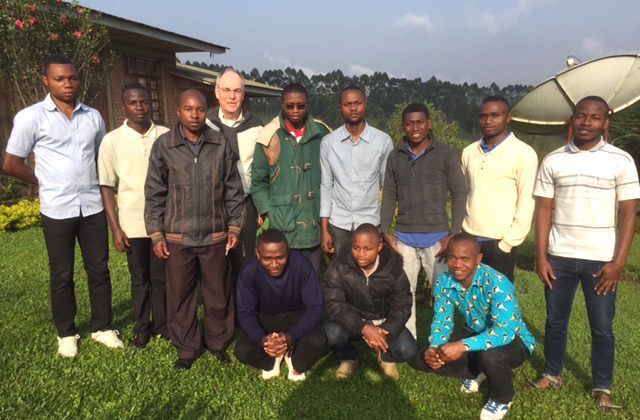 Fr. Charlie with SCJ students in Congo