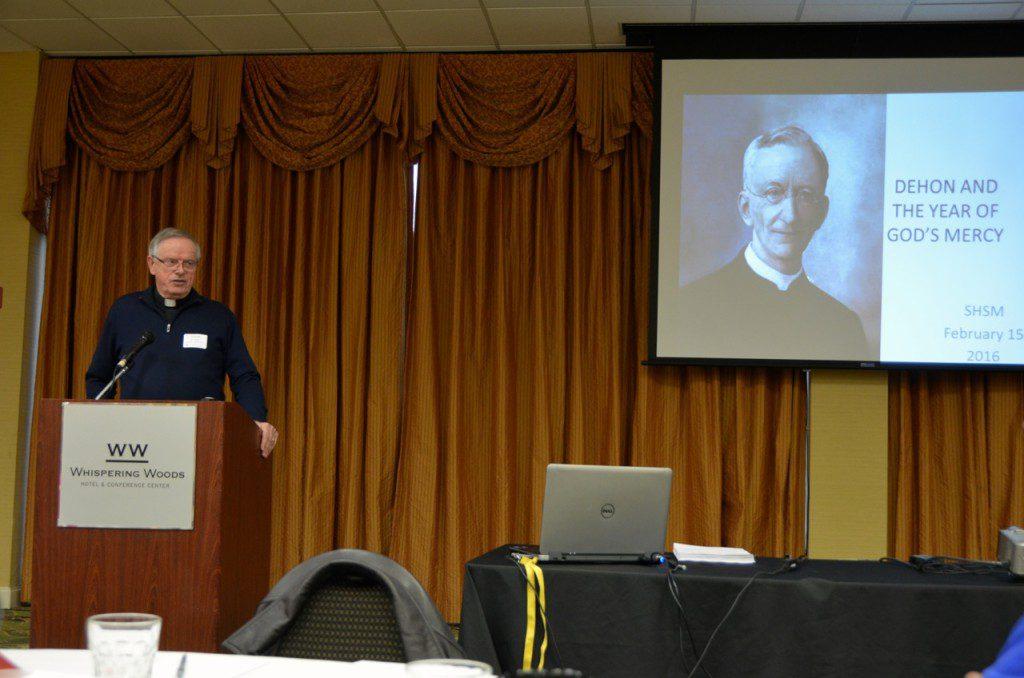 Fr. John van den Hengel spoke at the Feb. 14 SHSM in-service