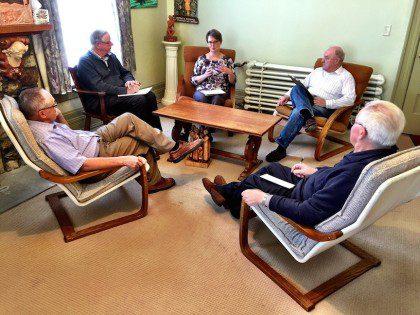 Representatives from the SCJ community in Ottawa meet with Karen Mahoney