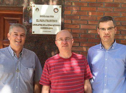 Fr. Leo (provincial superior of Argentina), Fr. Steve and Fr. Heiner