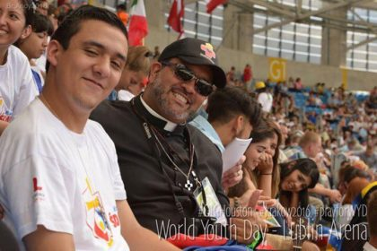 Frater Juancho (center) at one of the WYD gatherings